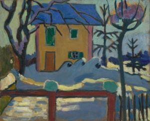 Gabriele Münter, House in the Winter Sun, 1909