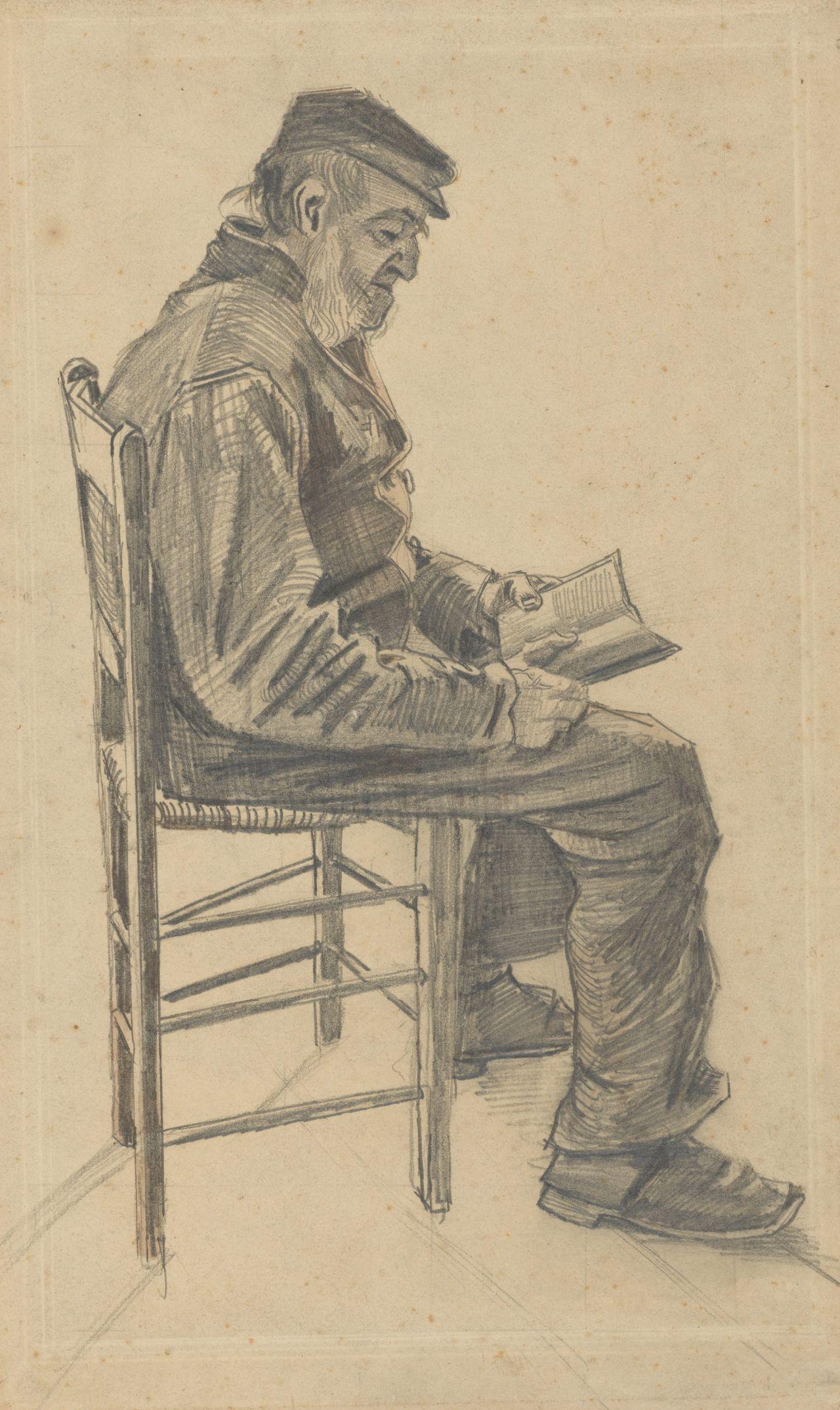 Vincent van Gogh - Old Man Reading - Van Gogh Museum