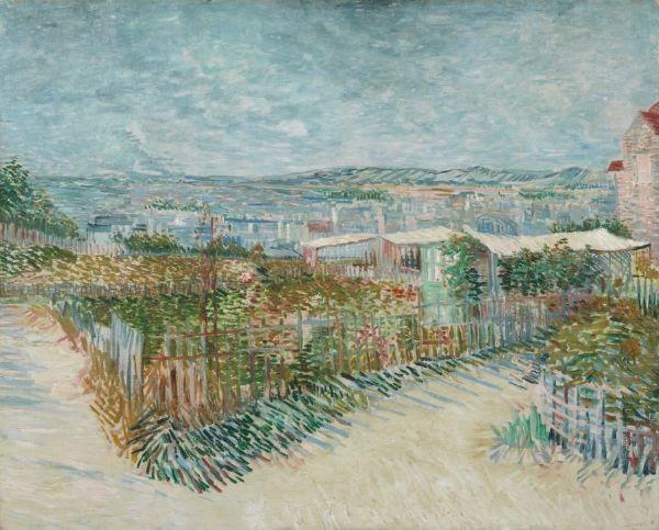 Vincent Van Gogh Montmartre Behind The Moulin De La Galette Van Gogh Museum
